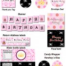 Pirate Fairy Princess Birthday Party Kit Printable Print yourself