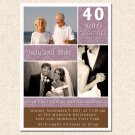 20 Damask Monogram Anniversary Engagement Photo Party Invitations 4x6