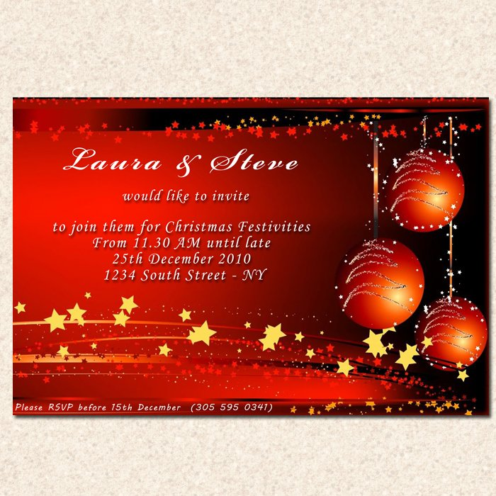 Printable Christmas Holiday Party Invitations Snowflake