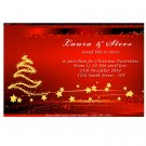 Printable Christmas Holiday Party Invitations Snowflake Red Ornament