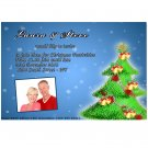 Printable Christmas Holiday Party Photo Invitations Snowflake Ornament