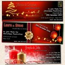 Printable Christmas Holiday Party Photo Invitations Snowflake Card Ticket Ornament