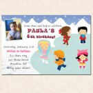 10 ct Iceskating Birthday Party Photo Invitations Skate