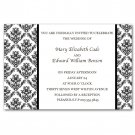 Printable Wedding Engagement Anniversary Invitations Damask Monogram Black White
