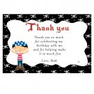 Printable Pirate Thank You Cards Notes Birthday Baby Shower Boy Print Yourself