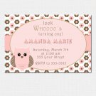 Printable Look Whos Owl Birthday Party Invitations Girl Baby Shower 1st 2nd Pink 4x6 5x7