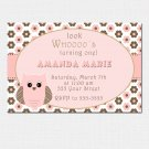 10 Personalized Look Whos Owl Birthday Party Baby Shower Invitations Girl Baby 1st 2nd
