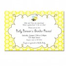 Printable What´s Gonna Bee Gender Reveal Invitations Baby Shower Birthday