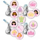 Princess Candy Sticker Print DIY Labels Tags Magnets Buttons Stickers Pink Polka Dots Hershey