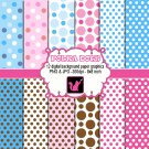 Cute lovely polka dots clipart clip art digital cardmaking graphics