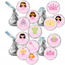 Personalized Fairy Princess Candy Sticker DIY Labels Buttons Stickers Pink Hershey Kiss