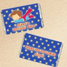 Printable Personalized Super hero Superman Mini Candy Wrapper - Birthday Party Baby Shower