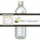 24 Baby Shower Gender Reveal What's It Gonna Bee Bottle Label Wrapper - Polka Dots Birthday