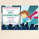 10 Super Hero Superman Party Photo Birthday Baby Shower Invitations Boy Baby 1st 2nd