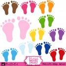 Baby feet clipart clip art digital cardmaking graphics