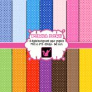 Cute lovely small polka dots clipart clip art digital cardmaking graphics
