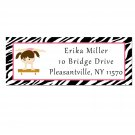 Printable Address Labels Gymnastic Ballet Zebra Birthday Party Baby Shower Pink Girl Print Yourself