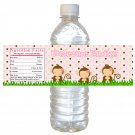 25 Personalized Jungle Monkey Baby Shower Bottle Water Labels Wrappers Stickers