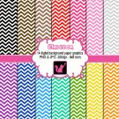 Cute lovely chevron zig zag clipart clip art digital cardmaking graphics