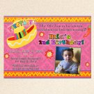 Mexican Fiesta Engagement Party Photo Invitations Sombrero Margarita Birthday Baby Bridal Shower