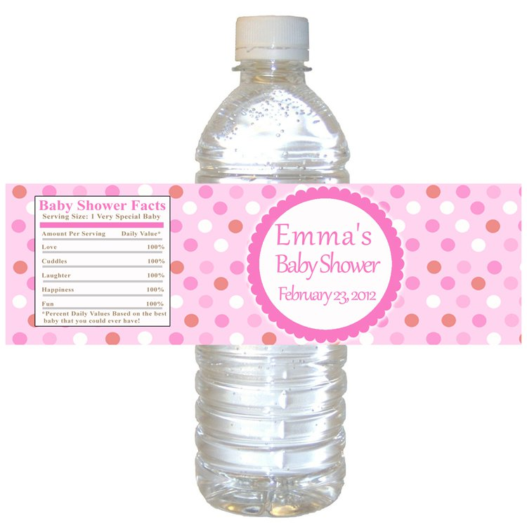 water bottle labels wrappers birthday party baby shower custom wraps