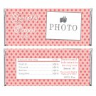 Printable Personalized Coral Polka Dots Candy Bar Wrapper - Birthday Party Baby Shower