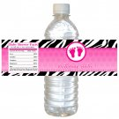Printable Baby Feet Treads Water Bottle Labels Wrappers