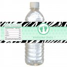 Printable Baby Feet Treads Lime Green Water Bottle Labels Wrappers