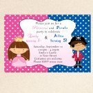 30 Pirate Fairy Princess Birthday Party Invitations Polka Dots Girl Baby