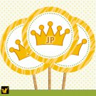 20 Personalized Cupcake Toppers Baby Shower Jungle Prince