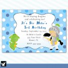 Printable Knight Dragon Birthday Party Invitations Polka Dots Boy Baby Print Yourself