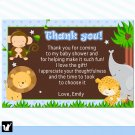 30 Thank You Cards Jungle Safari Zoo Baby Shower Birthday Party Baby Shower Girl Baby Notes 1st