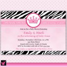 30 Pink Zerba Princess Crown Invitations Birthday Party Baby Shower