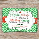 30 Personalized Christmas Dinner Cocktail Invitation