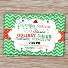 Personalized Holiday Christmas Dinner Cocktail Invitation