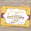 30 Personalized Thanksgiving Dinner Lunch Cocktail Invitation