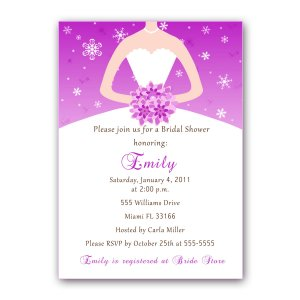 30 winter wonderland bridal shower invitations purple