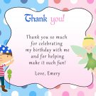 30 Pirate Fairy Pixie Princess Birthday Party Thank You Cards Note Baby
