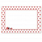 30 Blank Ladybug Valentines Card Notes