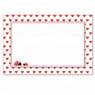 Printable Blank Ladybug Valentines Love Day Card