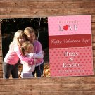 Printable Personalized Valentines Love Day Photo Card