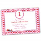 Printable Valentines Love Day Inspired Birthday Invitations