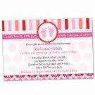 Printable Valentines Love Day Inspired Baby Shower Invitations