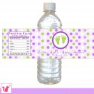 Printable Baby Feet Water Bottle Label Wrappers - Baby Shower Party