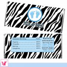 30 Zebra It's a Boy Candy Bar Wrapper - Baby Shower