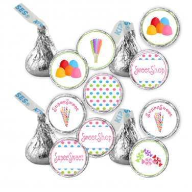 Hershey Kiss stickers - Printable Sweetshop Candyland Party Occasion Labels