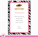 Printable Personalized Jungle Gym Birthday Thank You Card Note