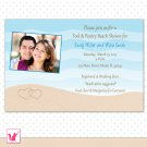 Printable Personalized Lovely Beach Bridal Shower Invitation Card