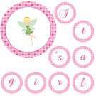 Hand Made Personalized Green Fairy Banner - Baby Shower Birthday Customizable For Any Occassion
