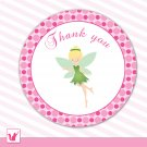 Printable Cute Green Fairy Thank You Tags - Birthday Party